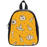 Funny Halloween Party Pattern School Bag (Small) Front