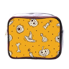 Funny Halloween Party Pattern Mini Toiletries Bag (one Side)