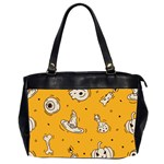 Funny Halloween Party Pattern Oversize Office Handbag (2 Sides) Front