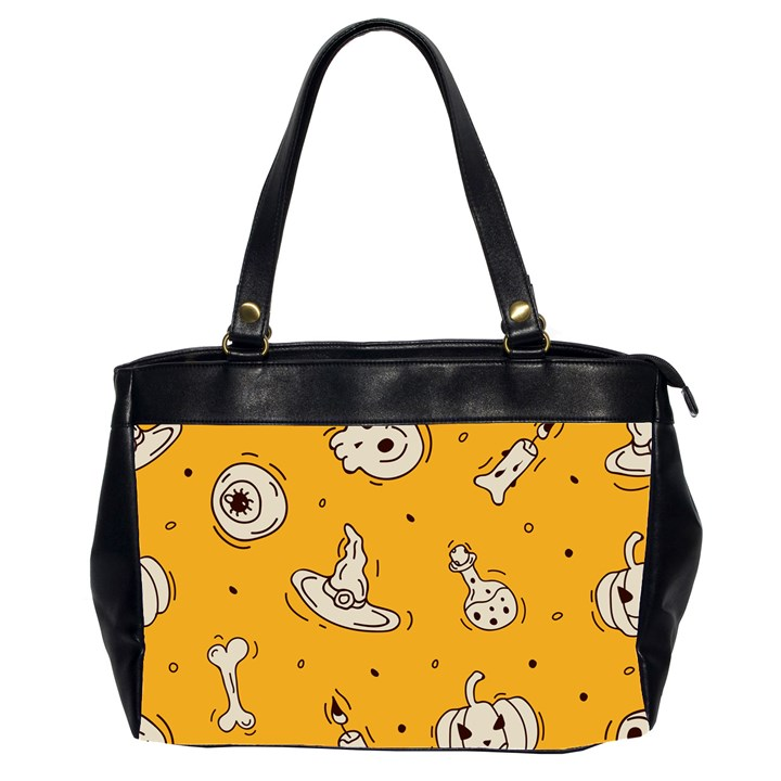 Funny Halloween Party Pattern Oversize Office Handbag (2 Sides)