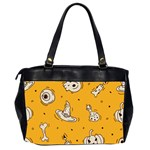 Funny Halloween Party Pattern Oversize Office Handbag (2 Sides) Back