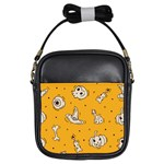 Funny Halloween Party Pattern Girls Sling Bag Front