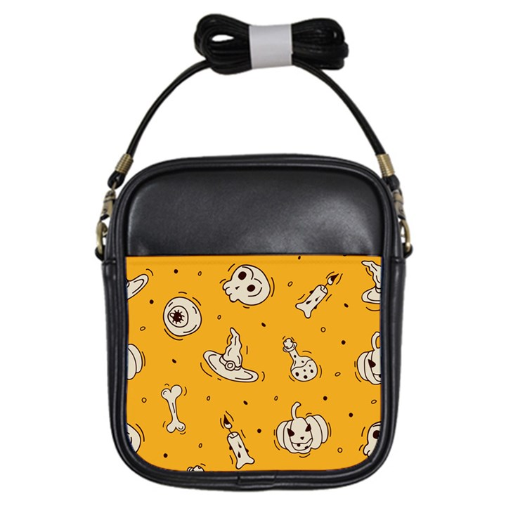 Funny Halloween Party Pattern Girls Sling Bag