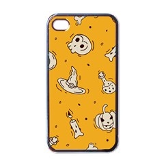 Funny Halloween Party Pattern Apple Iphone 4 Case (black)