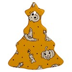 Funny Halloween Party Pattern Ornament (Christmas Tree)  Front
