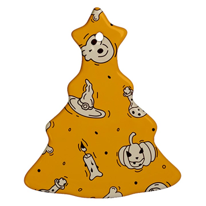 Funny Halloween Party Pattern Ornament (Christmas Tree)