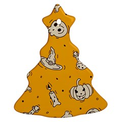 Funny Halloween Party Pattern Christmas Tree Ornament (two Sides)