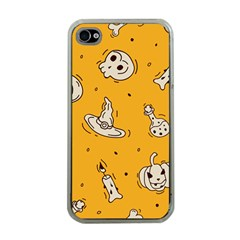 Funny Halloween Party Pattern Apple Iphone 4 Case (clear)