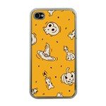 Funny Halloween Party Pattern Apple iPhone 4 Case (Clear) Front