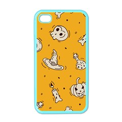 Funny Halloween Party Pattern Apple Iphone 4 Case (color)