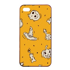 Funny Halloween Party Pattern Apple Iphone 4/4s Seamless Case (black)