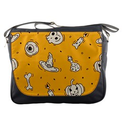 Funny Halloween Party Pattern Messenger Bag