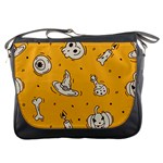 Funny Halloween Party Pattern Messenger Bag Front
