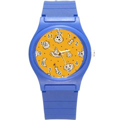 Funny Halloween Party Pattern Round Plastic Sport Watch (s)