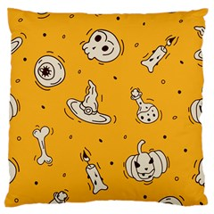 Funny Halloween Party Pattern Large Cushion Case (two Sides)