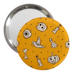 Funny Halloween Party Pattern 3  Handbag Mirrors