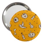 Funny Halloween Party Pattern 3  Handbag Mirrors Front