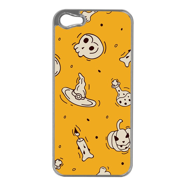 Funny Halloween Party Pattern Apple iPhone 5 Case (Silver)