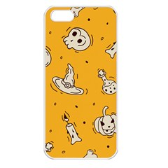 Funny Halloween Party Pattern Apple Iphone 5 Seamless Case (white)
