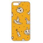 Funny Halloween Party Pattern Apple Seamless iPhone 5 Case (Clear) Front