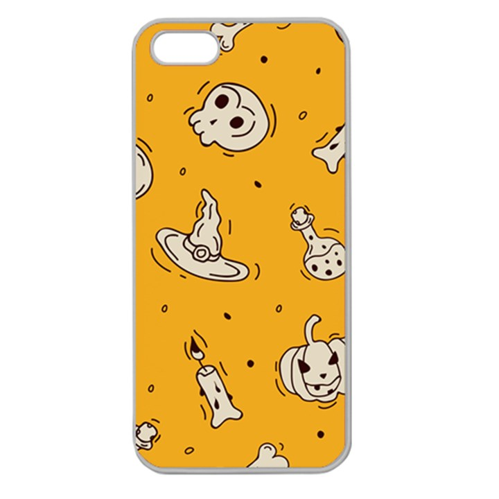 Funny Halloween Party Pattern Apple Seamless iPhone 5 Case (Clear)