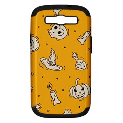 Funny Halloween Party Pattern Samsung Galaxy S Iii Hardshell Case (pc+silicone)