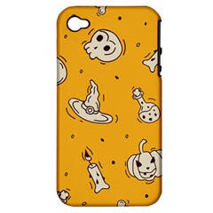 Funny Halloween Party Pattern Apple Iphone 4/4s Hardshell Case (pc+silicone)