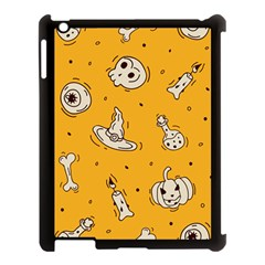 Funny Halloween Party Pattern Apple Ipad 3/4 Case (black) by HalloweenParty