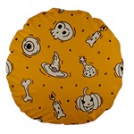 Funny Halloween Party Pattern Large 18  Premium Round Cushions Back