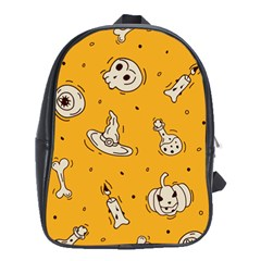 Funny Halloween Party Pattern School Bag (xl)
