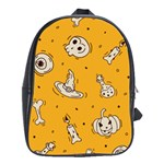 Funny Halloween Party Pattern School Bag (XL) Front