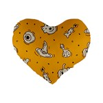 Funny Halloween Party Pattern Standard 16  Premium Heart Shape Cushions Front