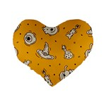 Funny Halloween Party Pattern Standard 16  Premium Heart Shape Cushions Back