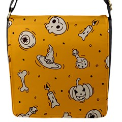 Funny Halloween Party Pattern Flap Closure Messenger Bag (s) by HalloweenParty