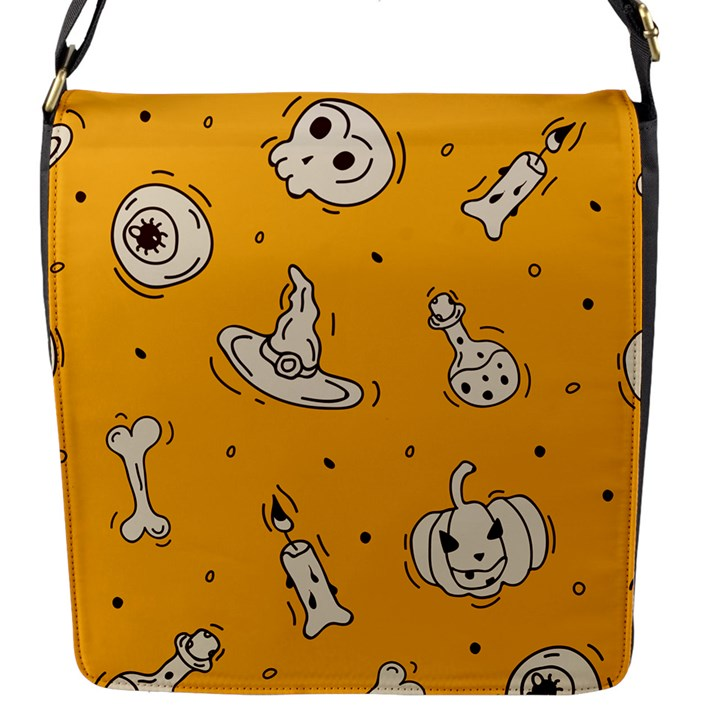 Funny Halloween Party Pattern Flap Closure Messenger Bag (S)