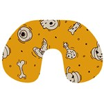 Funny Halloween Party Pattern Travel Neck Pillows Back