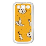 Funny Halloween Party Pattern Samsung Galaxy S3 Back Case (White) Front