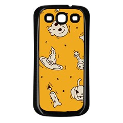Funny Halloween Party Pattern Samsung Galaxy S3 Back Case (black)