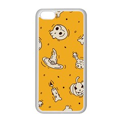 Funny Halloween Party Pattern Apple Iphone 5c Seamless Case (white)