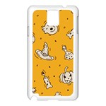 Funny Halloween Party Pattern Samsung Galaxy Note 3 N9005 Case (White) Front