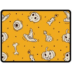 Funny Halloween Party Pattern Double Sided Fleece Blanket (large)
