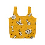 Funny Halloween Party Pattern Full Print Recycle Bag (S) Back