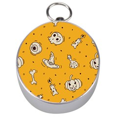 Funny Halloween Party Pattern Silver Compasses