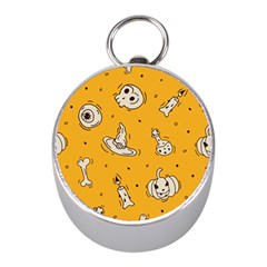 Funny Halloween Party Pattern Mini Silver Compasses