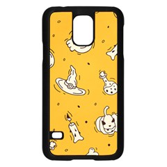 Funny Halloween Party Pattern Samsung Galaxy S5 Case (black)
