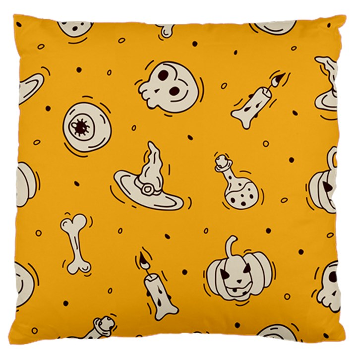 Funny Halloween Party Pattern Standard Flano Cushion Case (One Side)