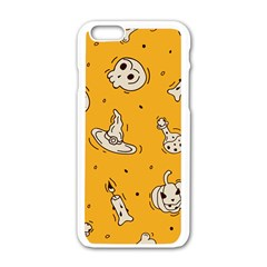 Funny Halloween Party Pattern Apple Iphone 6/6s White Enamel Case