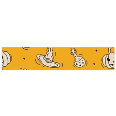 Funny Halloween Party Pattern Small Flano Scarf