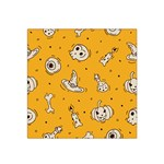 Funny Halloween Party Pattern Satin Bandana Scarf Front