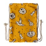 Funny Halloween Party Pattern Drawstring Bag (Large) Front